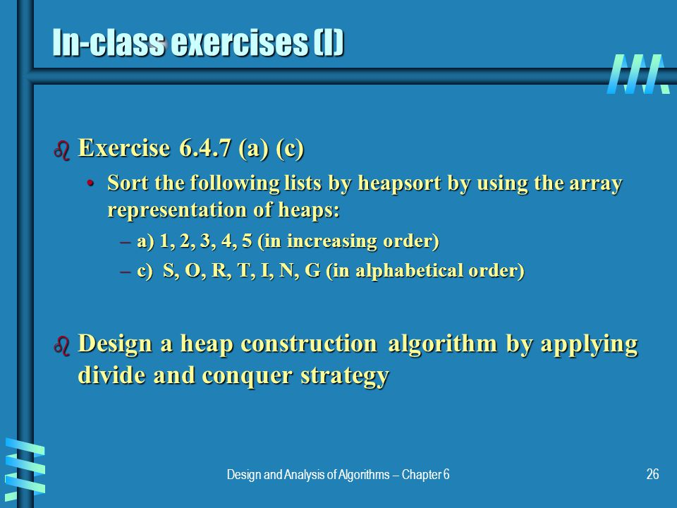 In-class exercises (I)