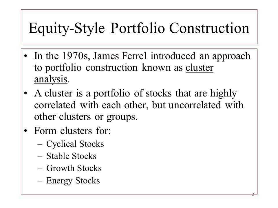 Equity-Style Portfolio Construction