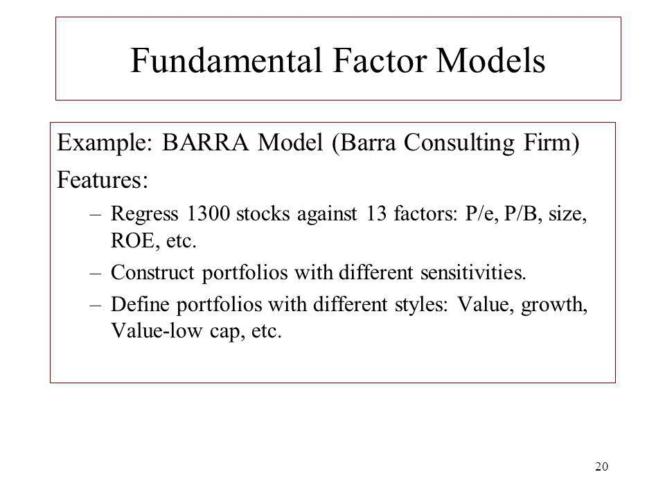Fundamental Factor Models