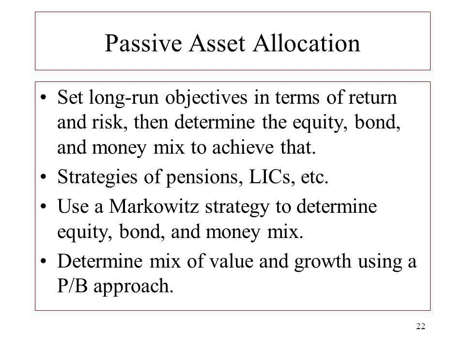 Passive Asset Allocation