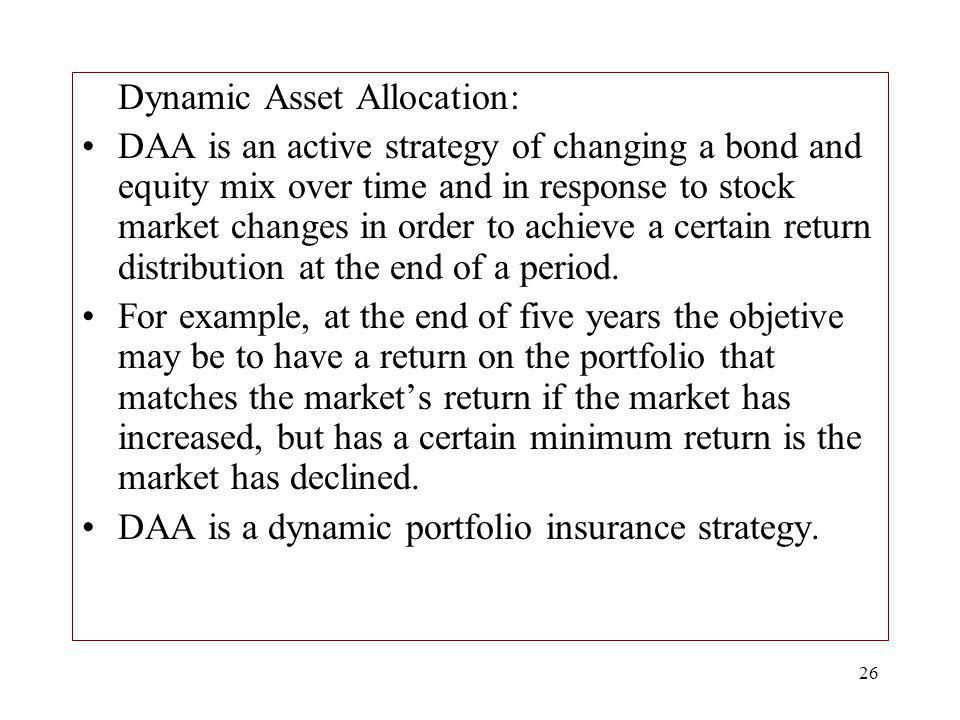 Dynamic Asset Allocation: