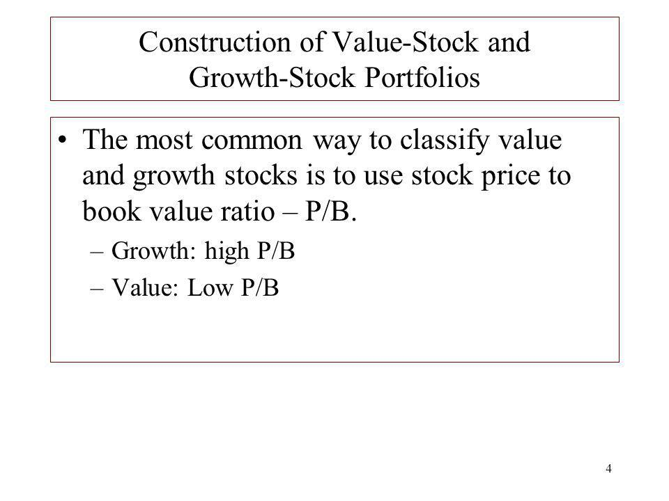 Construction of Value-Stock and Growth-Stock Portfolios