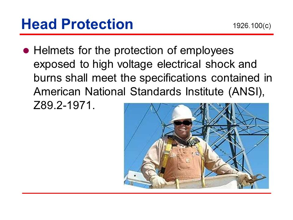 Head Protection 1926.100(c)