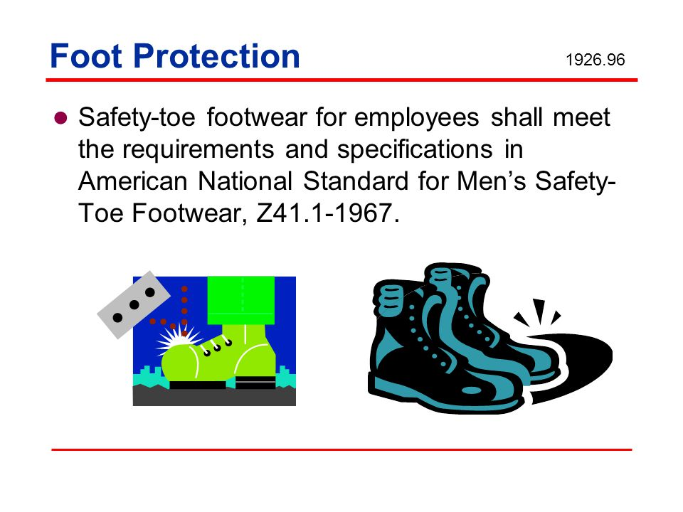 Foot Protection 1926.96.