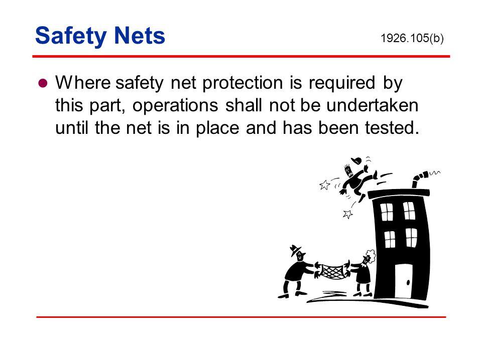 Safety Nets 1926.105(b)