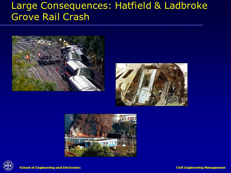 Large Consequences: Hatfield & Ladbroke Grove Rail Crash