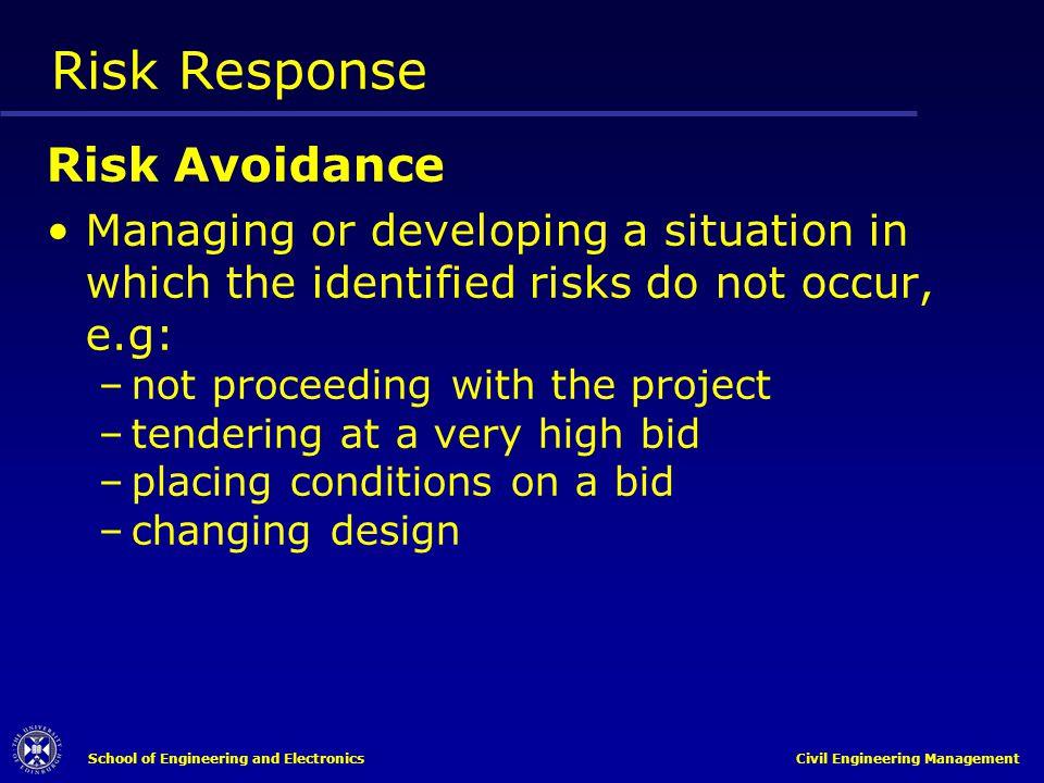 Risk Response Risk Avoidance