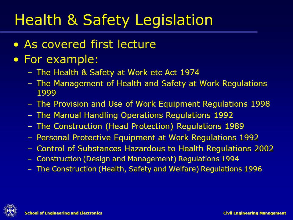 health and safety legislation Home » legislation » health & safety act made easy health & safety act made easy on 4 april 2016, the health and safety at work act 2015.