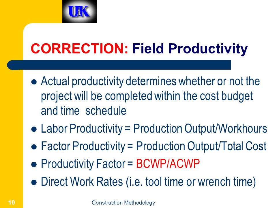CORRECTION: Field Productivity
