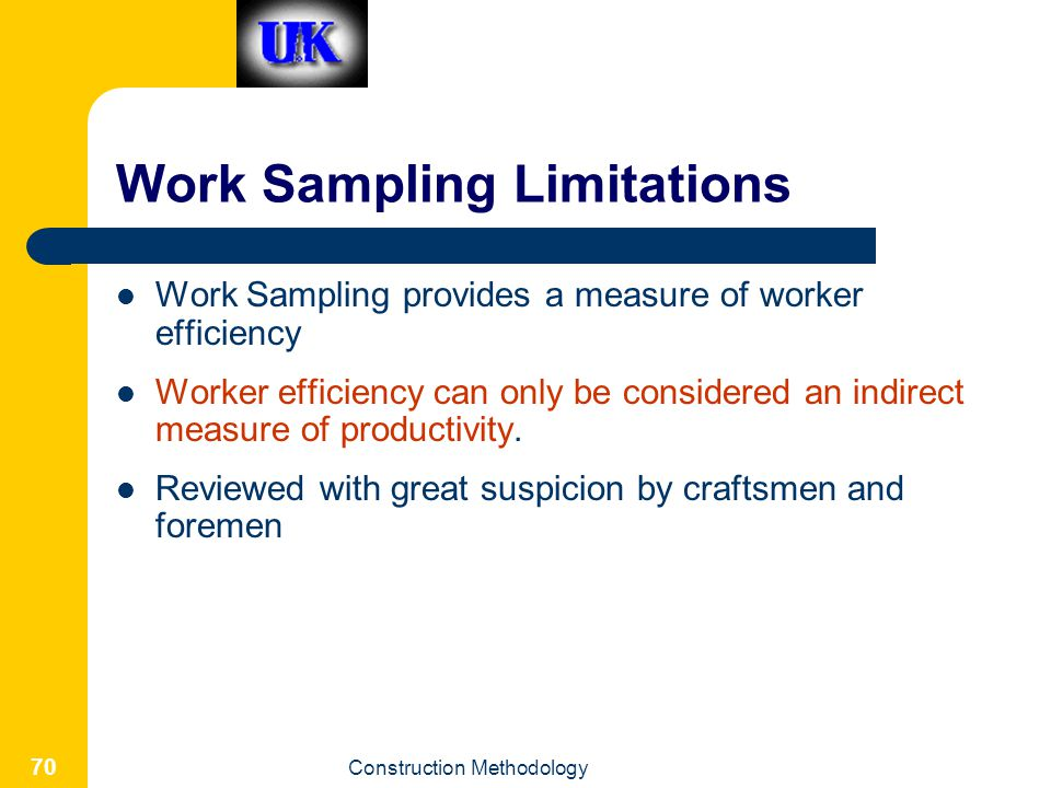 Work Sampling Limitations