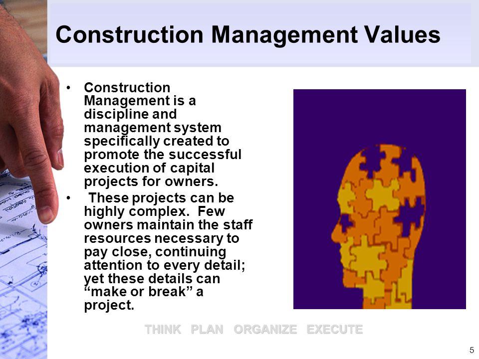 Construction Management Values