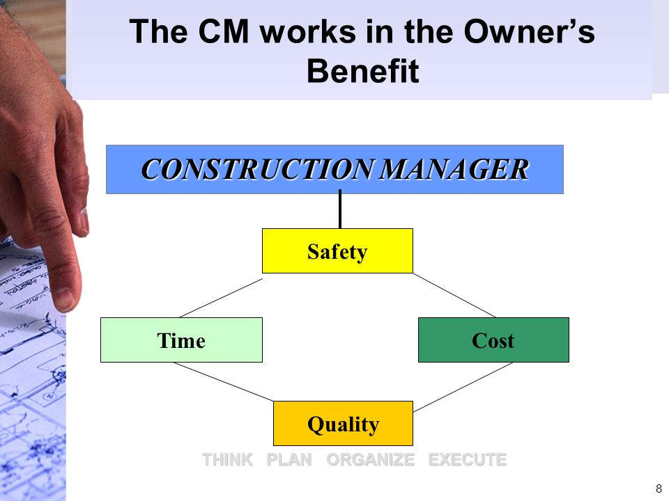 The CM works in the Owner's Benefit