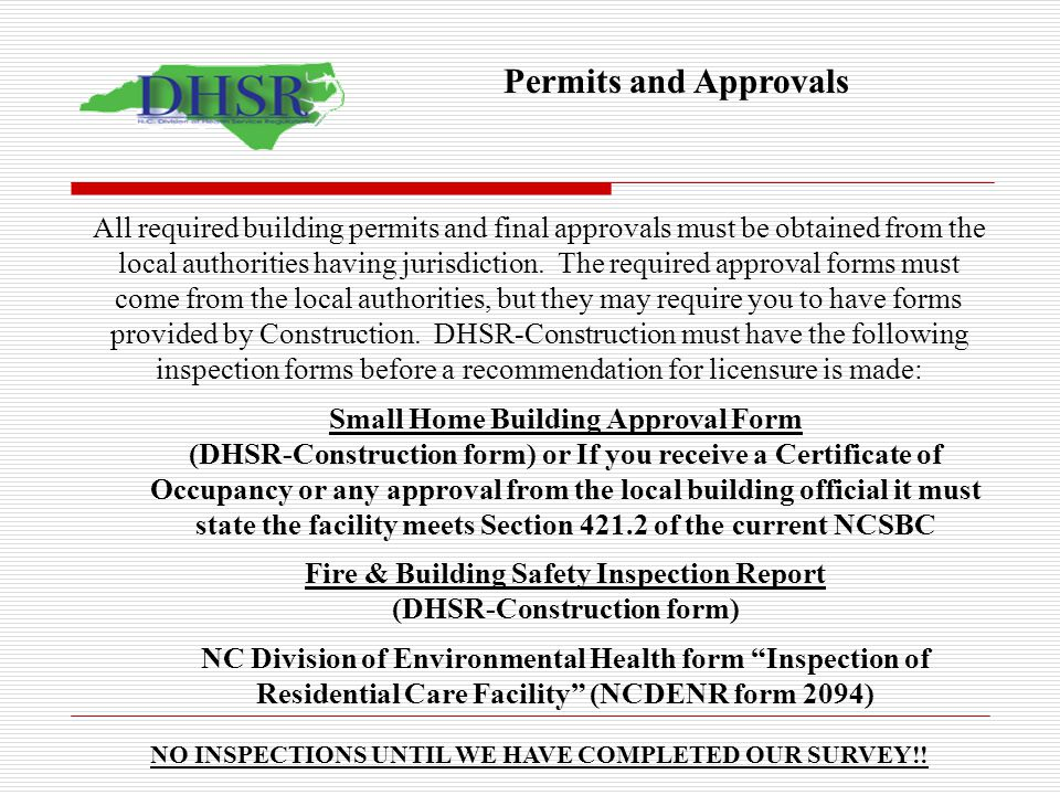 Permits and Approvals