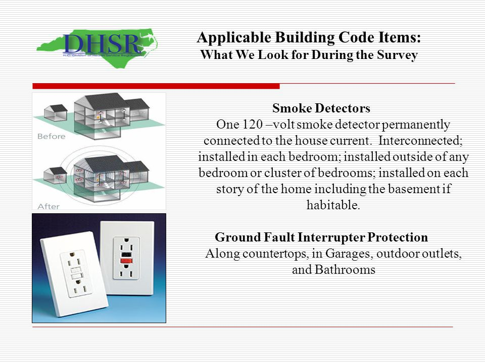Applicable Building Code Items: