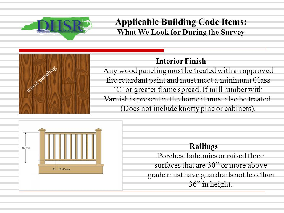 Applicable Building Code Items: What We Look for During the Survey