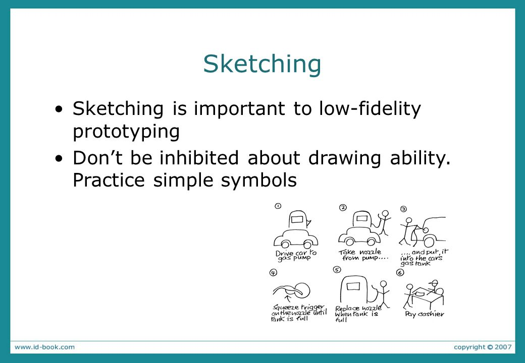 Sketching Sketching is important to low-fidelity prototyping