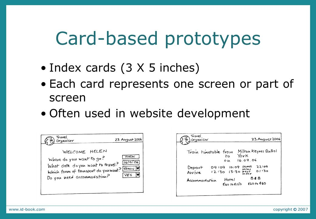 Card-based prototypes