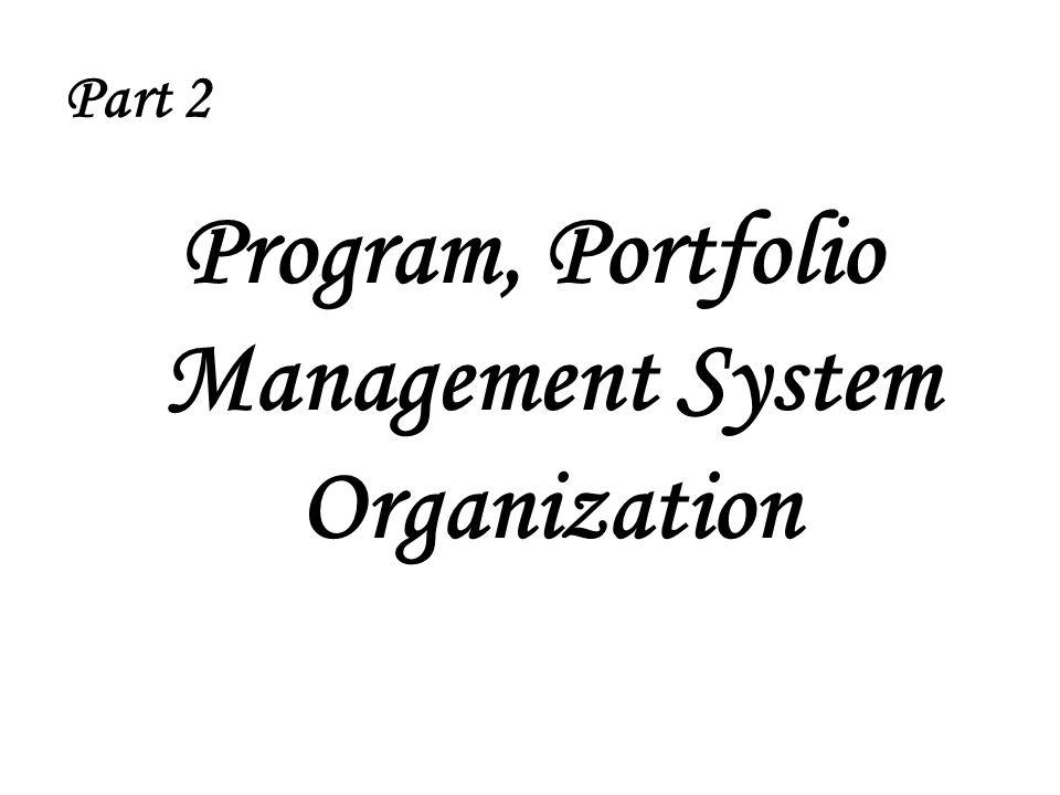 Program, Portfolio Management System Organization