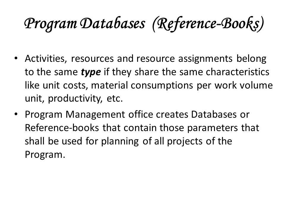 Program Databases (Reference-Books)