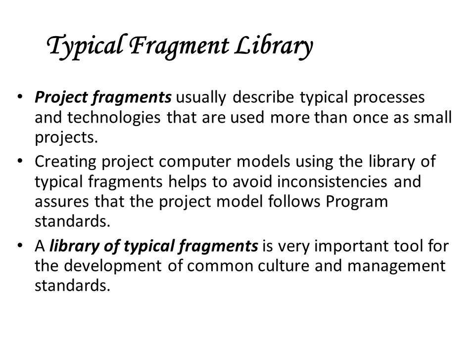 Typical Fragment Library