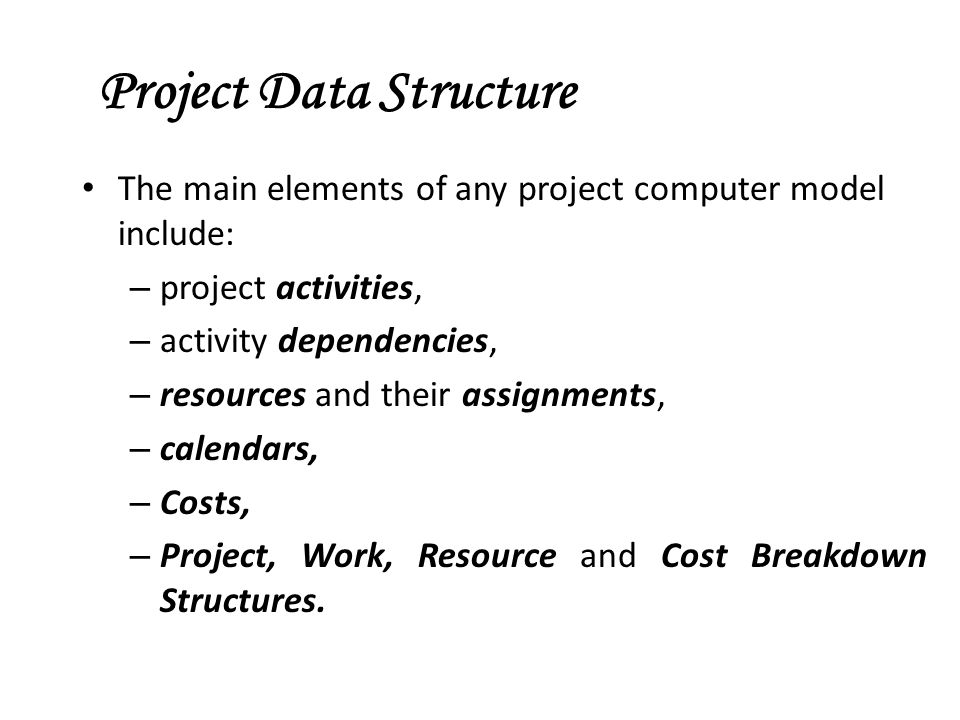 Project Data Structure