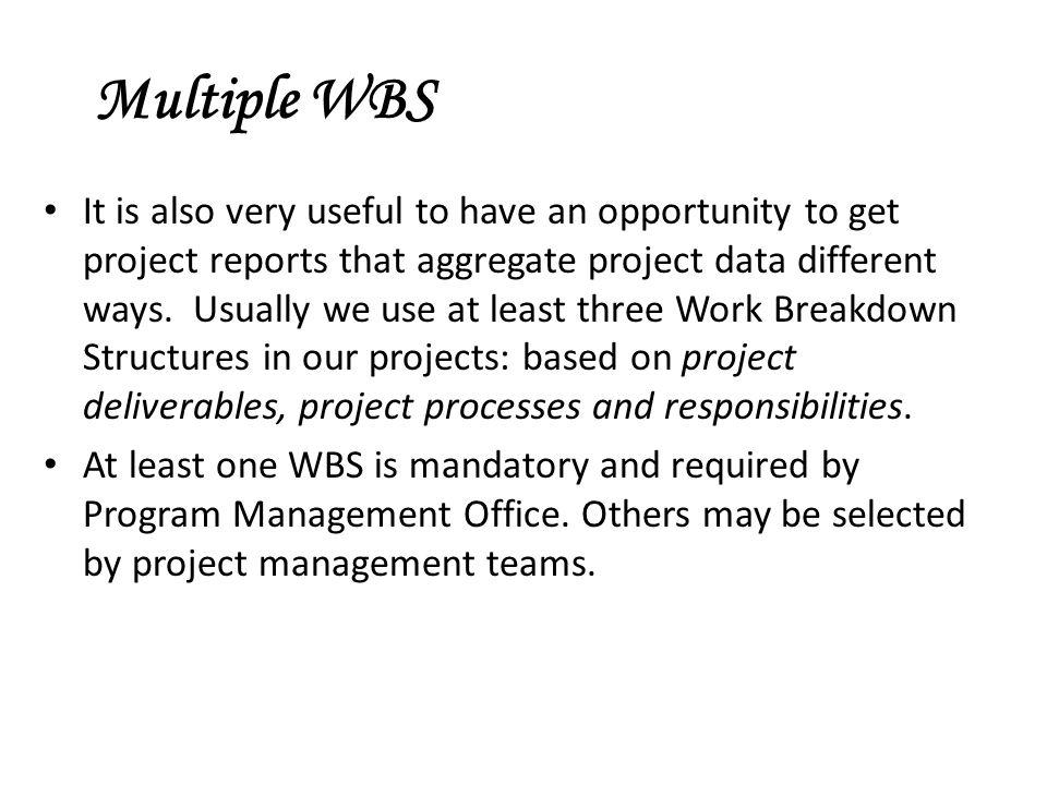 Multiple WBS