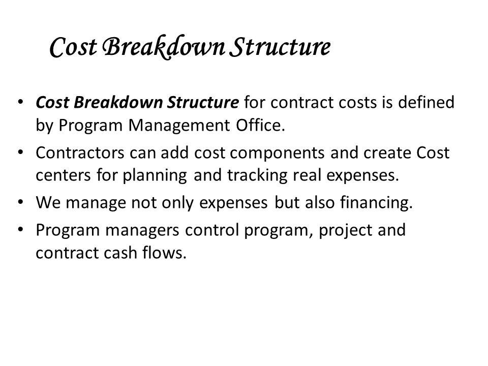 Cost Breakdown Structure