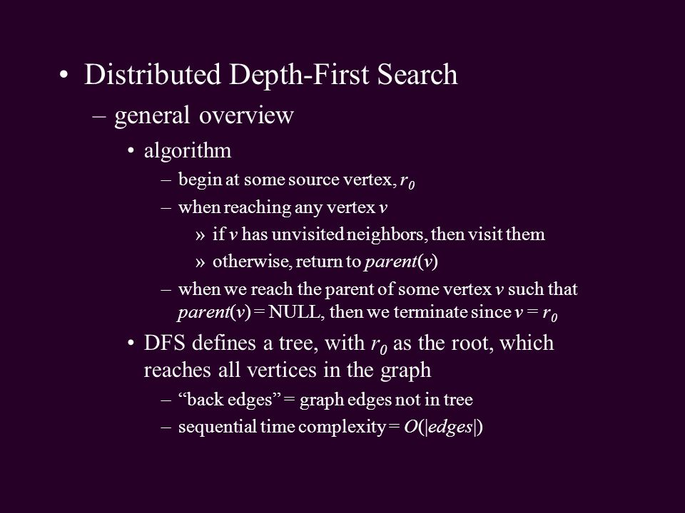 Distributed Depth-First Search