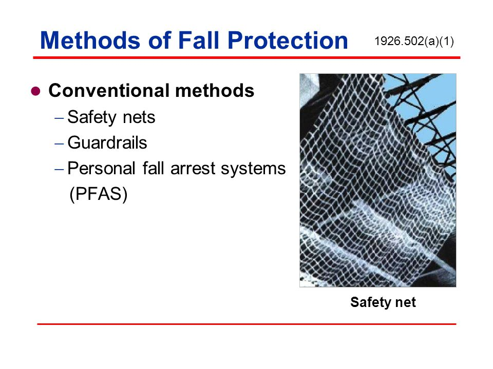 Methods of Fall Protection