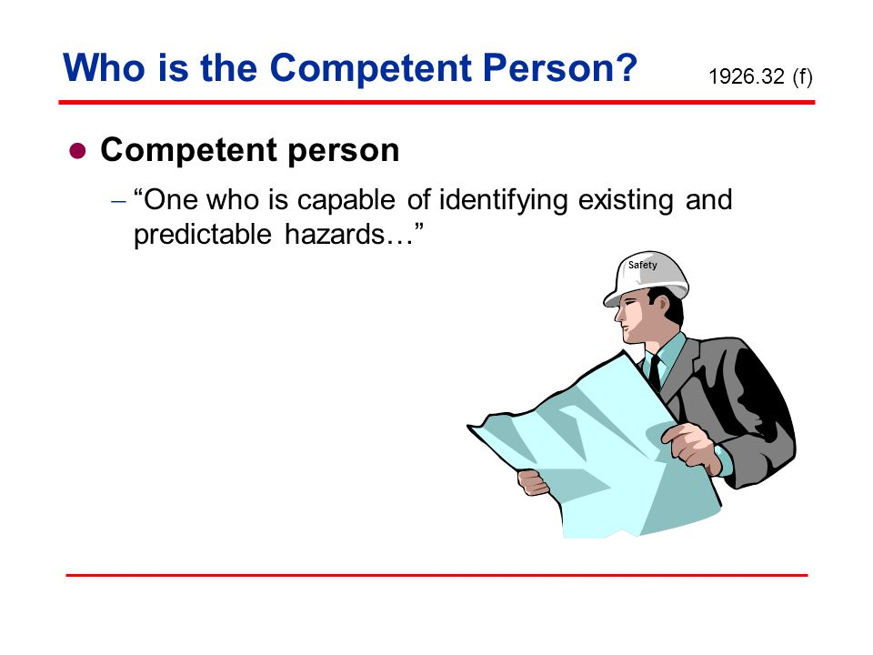 Who is the Competent Person