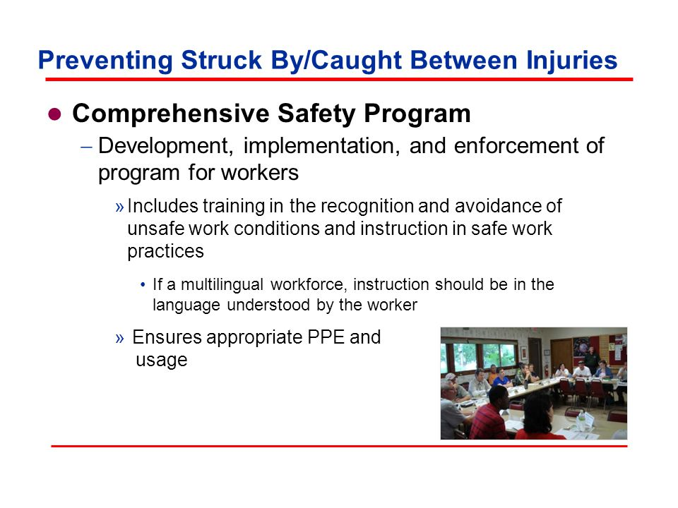 Preventing Struck By/Caught Between Injuries