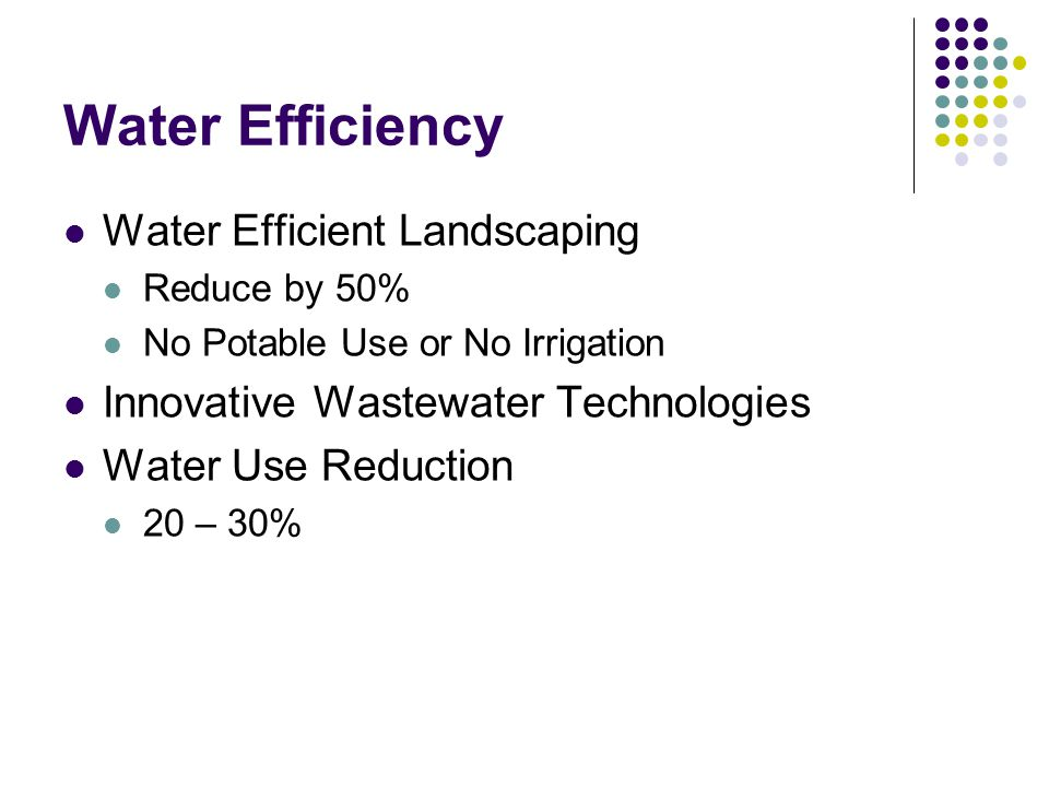 Water Efficiency Water Efficient Landscaping