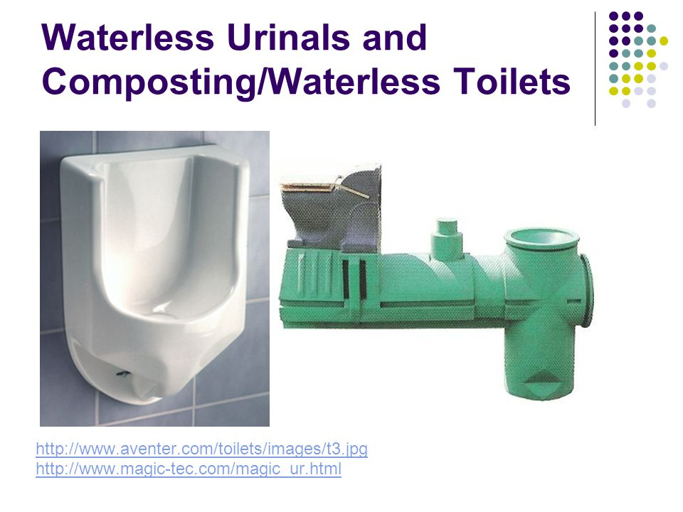 Waterless Urinals and Composting/Waterless Toilets