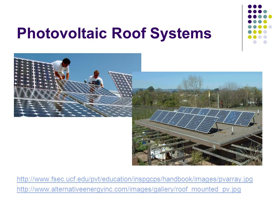 Photovoltaic Roof Systems