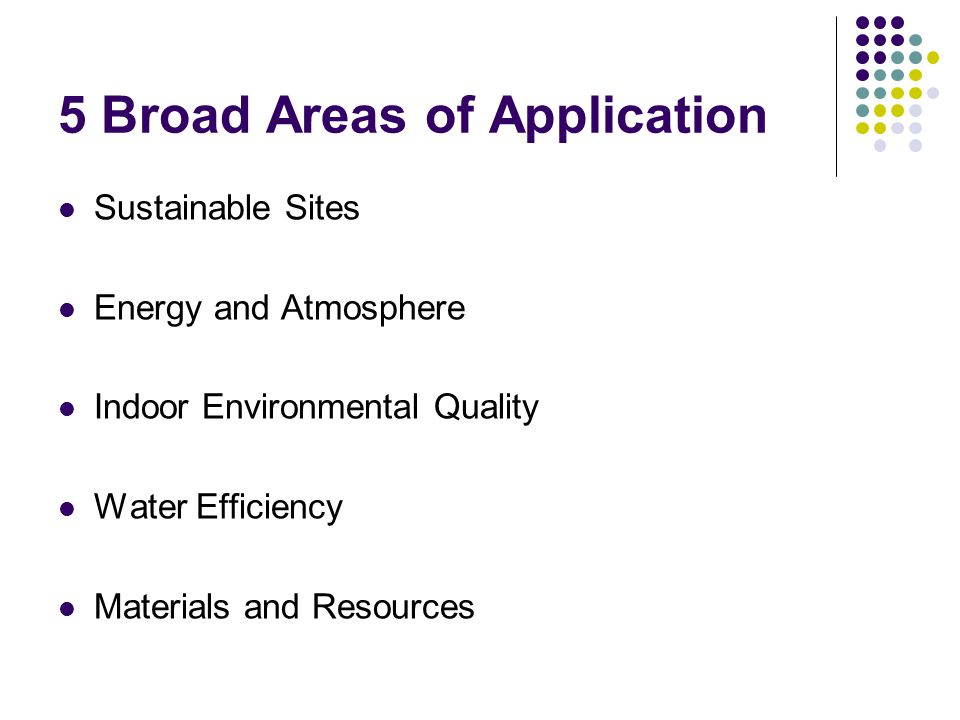 5 Broad Areas of Application