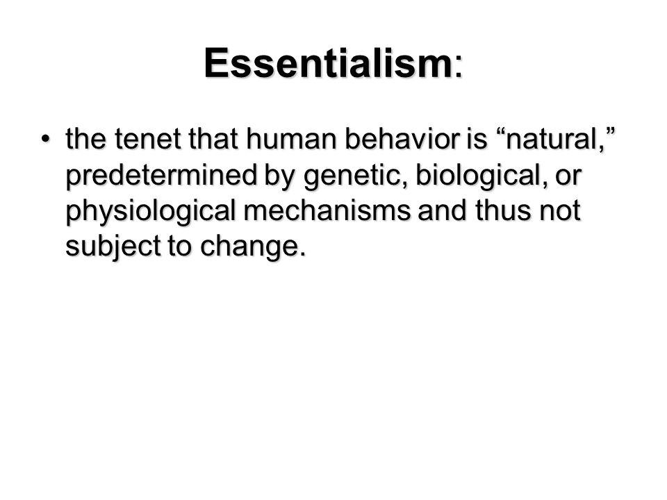 Essentialism: