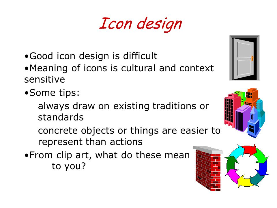 Icon design Good icon design is difficult