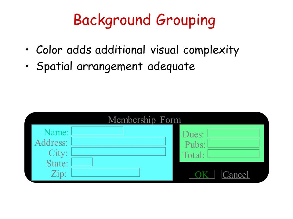 Background Grouping Color adds additional visual complexity