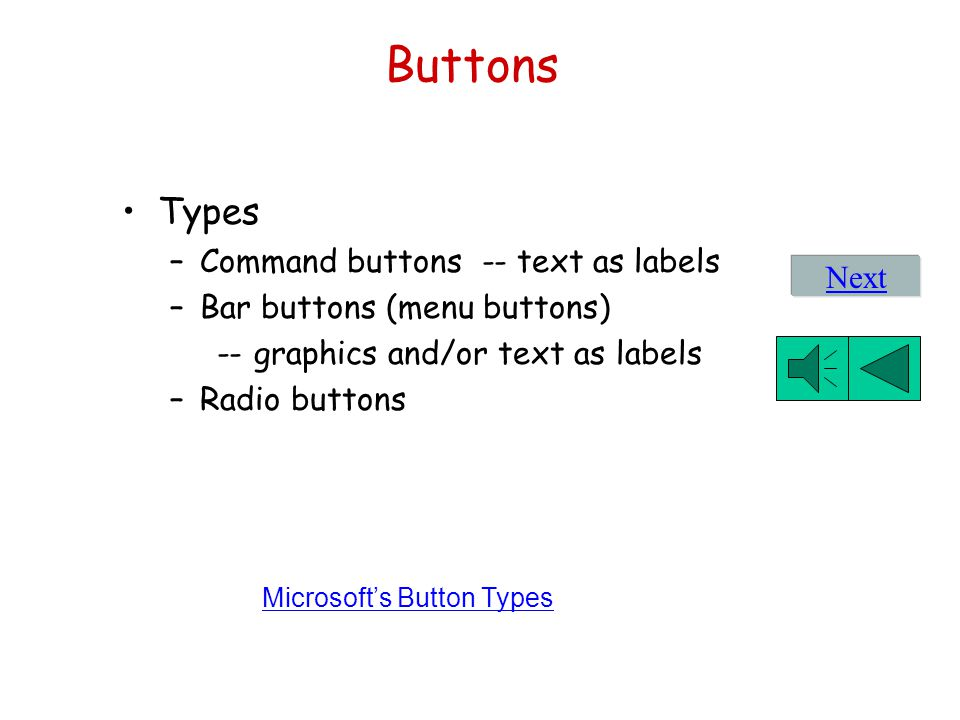 Microsoft's Button Types