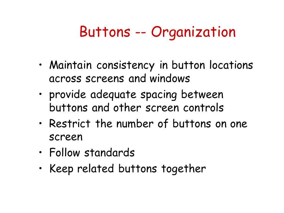 Buttons -- Organization
