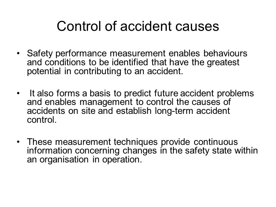 Control of accident causes