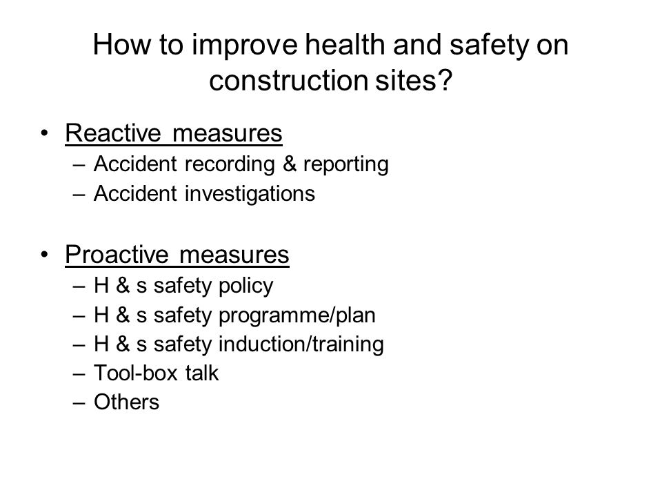 How to improve health and safety on construction sites