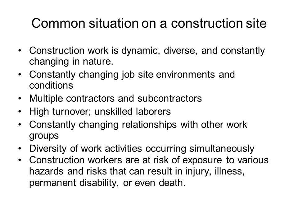 Common situation on a construction site