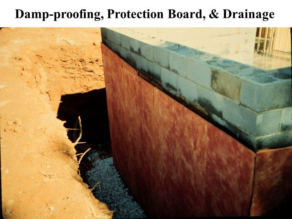 Damp-proofing, Protection Board, & Drainage