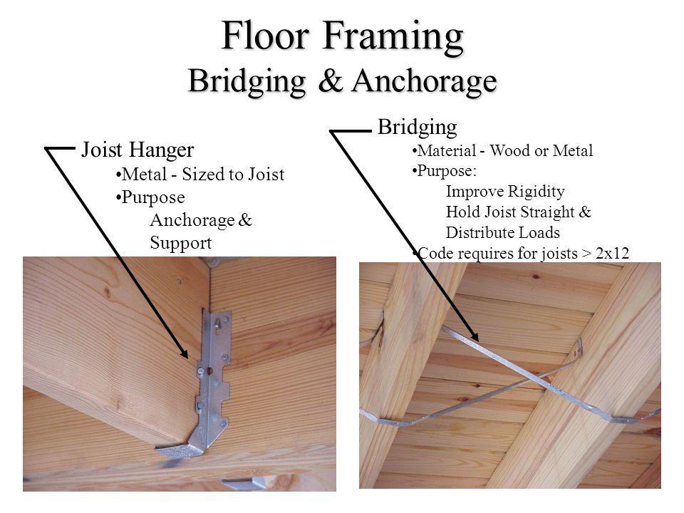 Floor Framing Bridging & Anchorage