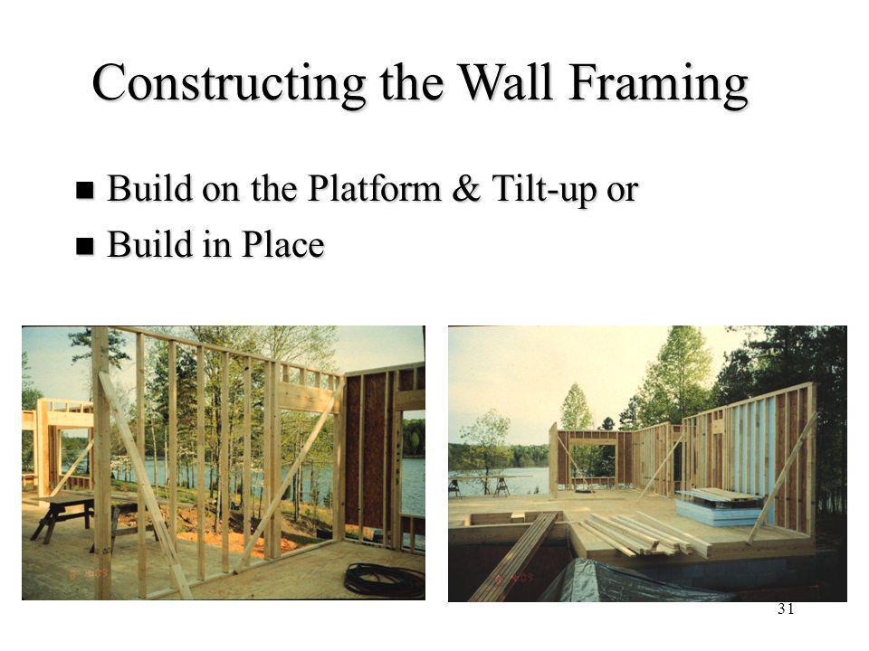 Constructing the Wall Framing