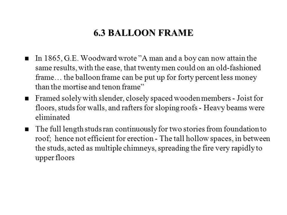6.3 BALLOON FRAME