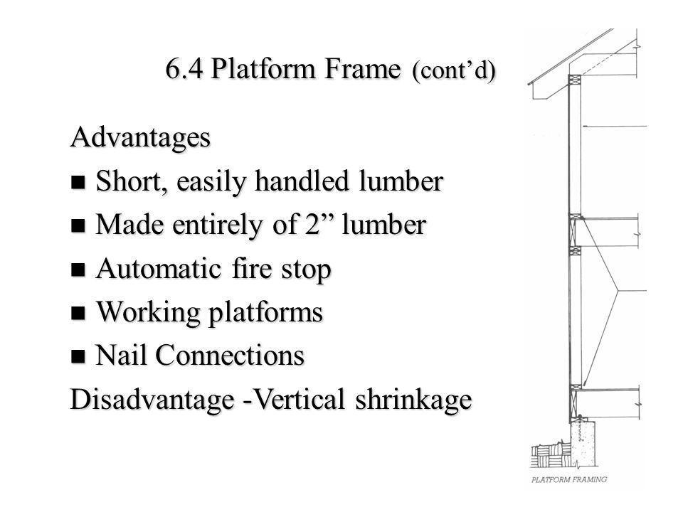 6.4 Platform Frame (cont'd)