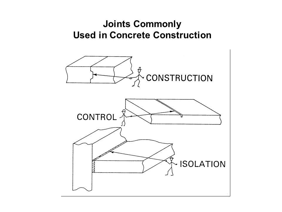 Joints Commonly Used in Concrete Construction