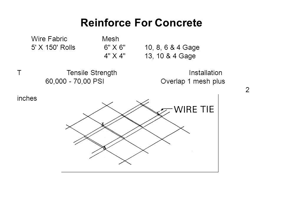 Reinforce For Concrete